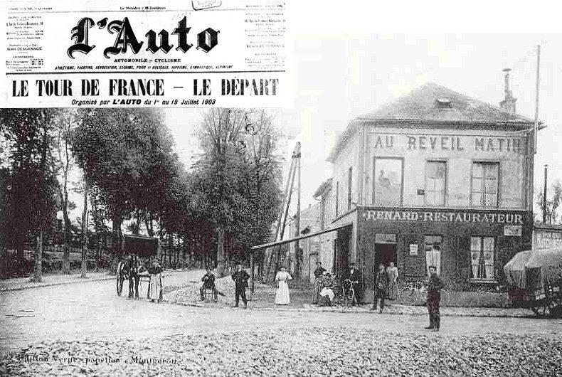 départ vélo tour de france 1903